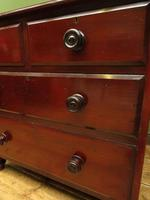 Small Antique 19th century Mahogany Chest of Drawers Washstand with aged patina (11 of 18)