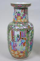Good Large Pair of Chinese Famille Rose Rouleau Vases 19th Century (6 of 11)
