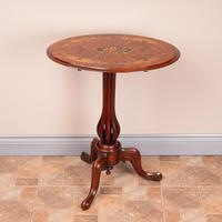 Good Quality Marquetry Walnut Occasional Tip Table (7 of 14)