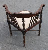 1900's Mahogany Corner Chair with Inlay (4 of 4)