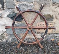 Early 20th Century Fishing Boat Wheel (2 of 4)