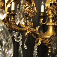 Italian Pair Bronze 20 Light Antique Chandeliers (10 of 10)