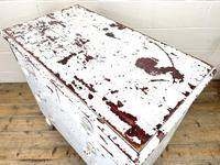 Small Distressed White Painted Victorian Chest of Drawers (8 of 10)