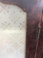 Antique Stained Pine Cupboard with Etched Glass Door Panels (4 of 8)