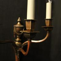 English Pair of Bronze Antique Wall Lights (5 of 10)