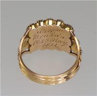 Georgian 15ct Gold Pearl Antique Memorial English Ring c.1800 (17 of 20)