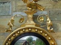 Outstanding Regency Giltwood Mirror With Eagle Crest (10 of 10)