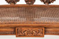 Pretty Pine Carved French Stool (3 of 8)