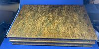 Edwardian French Leather Double book box with Backgammon set to the inside (8 of 14)