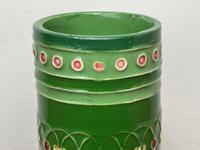 Original Art Nouveau Eichwald Pottery Green Glazed Rocket Flower Vase (5 of 23)