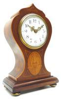 Super Art Nouveau Mantle Clock Tulip Floral Inlay 8 Day Mantle Clock (5 of 15)