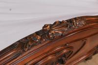 Lovely Quarter Veneer Louis XV Style Double Bed (6 of 10)