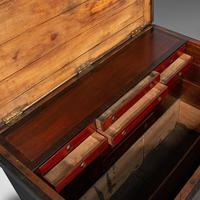 Antique Master Craftsman's Chest, English, Pine, Mahogany, Tool Trunk, Victorian (10 of 12)