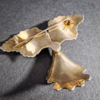 Silver & Enamel Orchid Brooch (3 of 4)