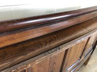 Antique Victorian Pitch Pine Curved Back Pew or Settle (8 of 16)