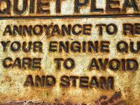 Large Heavy Rusted Cast Iron Railway Plaque Sign Train Notice (10 of 25)