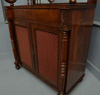 Fine Regency Mahogany Chiffonier Side Cabinet (4 of 18)