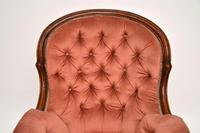 Antique Victorian Carved  Mahogany Armchair (4 of 11)