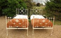 Pretty Pair of Victorian Large Single Beds Seventh Heaven (3 of 11)