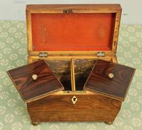 Antique Rosewood Tea Caddy (10 of 15)