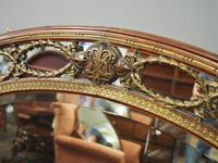 Gilded Walnut Oval Overmantel Mirror (3 of 11)