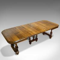 Large Antique Extending Dining Table, French, Walnut, Seats 4-10 c.1900 (9 of 12)