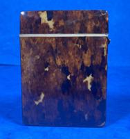 Victorian Tortoiseshell Card Case With Silver Inlay (8 of 13)