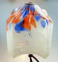 An Unusual Stylised Maiden Art Deco Table Lamp & Shade C.1920's (7 of 11)