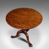 Antique Tilt Top Table, English, Mahogany, Lamp, Wine, Side, Georgian c.1770 (6 of 12)