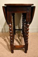 Late 17th Century Elm Drop Leaf Table (4 of 5)