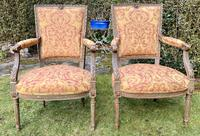 Pair of French Armchairs in Original Paint Finish (2 of 10)