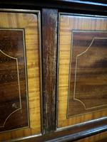 Georgian Inlaid Mahogany Linen Press / Wardrobe (7 of 10)