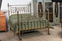 Handsome Victorian All Naturally Aged Brass King Size Bed (2 of 10)