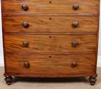 Regency Bowfront Chest of Drawers Mahogany (4 of 9)