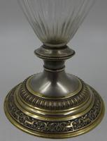 Antique Silver Parcel Gilt Claret Jug. 800 Standard c.1880 (3 of 9)