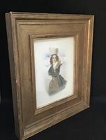 Victorian Watercolour of a Young Lady. (2 of 9)