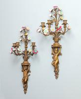 Well Formed Pair of Mid 19th Century Bronze Wall Lights (5 of 7)