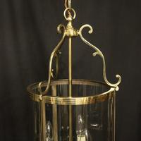 French Set of 3 Convex Antique Hall Lanterns (3 of 10)
