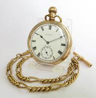 Antique Elgin Pocket Watch & Chain
