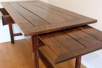 19th Century French Refectory Style Table with pull-out bread board (8 of 18)