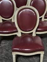 Set of 8 French Dining Chairs Lovely Original Finish (7 of 18)