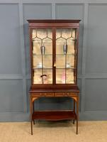 Inlaid Mahogany Display Cabinet by Shapland and Petter (20 of 21)