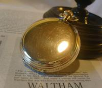 Antique Pocket Watch 1909 Waltham USA 7 Jewel 10ct Gold Filled Fwo (4 of 11)