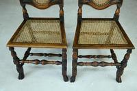 Pair of Walnut & Cane Carolean Chairs (5 of 11)