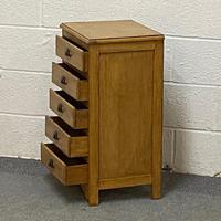 Old Pine Bedside Chest of Drawers (4 of 4)