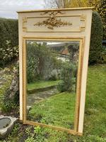 French Painted & Gilded Trumeau Mirror (2 of 6)