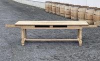 Large Bleached Oak Farmhouse Dining Table with Extensions & Storage (24 of 35)