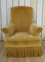 Antique French Tub Armchair for re-upholstery (2 of 8)