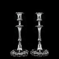 Antique Pair of Solid Silver Victorian Candlesticks - Henry Wilkinson & Co 1848 (8 of 31)