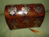 Dome Top Fitted Walnut Stationery Box c.1875 (3 of 11)